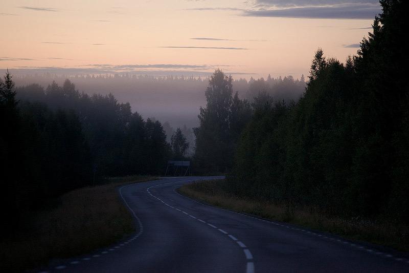 Bild av norrländsk solnedgång